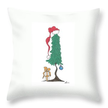 Santa Tree Throw Pillow