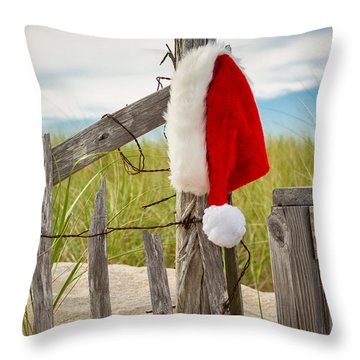 Santa's Downtime Throw Pillow by Brian Caldwell