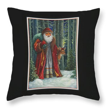 Santa's Journey Throw Pillow