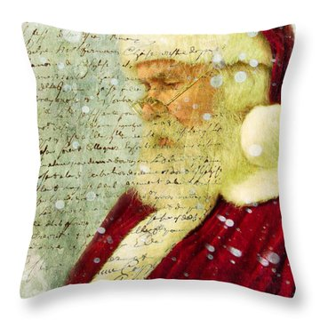 Throw Pillow featuring the photograph Santas Letter  by Nada Meeks