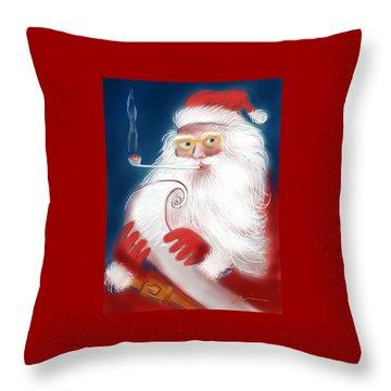 Santa's List Throw Pillow
