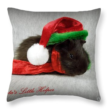 Santa's Little Helper Throw Pillow