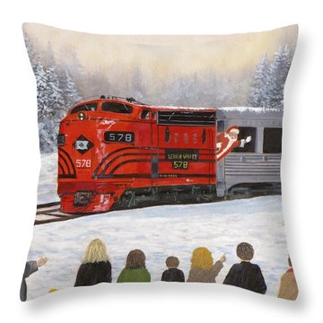 Santa's Miracles Throw Pillow by Kevin F Heuman
