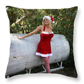 Santa's Naughty Lil' Helper 1345 Throw Pillow
