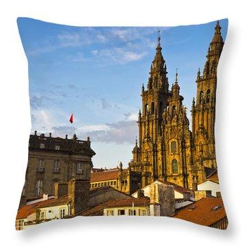 Santiago De Compostela Cathedral Galicia Spain Throw Pillow by Pablo Avanzini