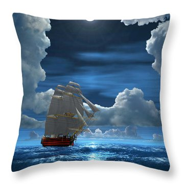 Santisima Trinida In The Moonlight 2 Throw Pillow