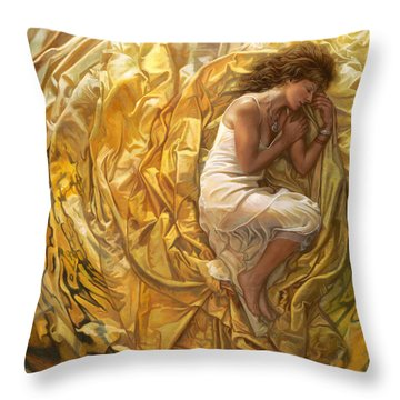 Santita  Throw Pillow by Mia Tavonatti