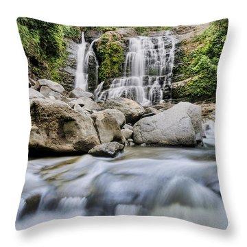 Santo Cristo Falls Throw Pillow by Oscar Gutierrez