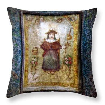 Santo Nino De Atocha Throw Pillow
