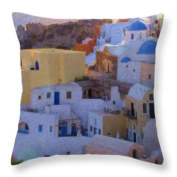Santorini Grk6424 Throw Pillow