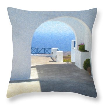 Santorini Grk8681 Throw Pillow