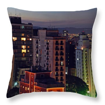 Sao Paulo Downtown At Dusk Throw Pillow