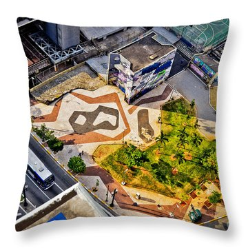 Sao Paulo Downtown - Geometry Of Public Spaces Throw Pillow