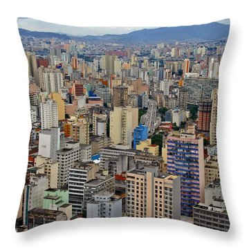 Throw Pillow featuring the photograph Sao Paulo by Henry Kowalski