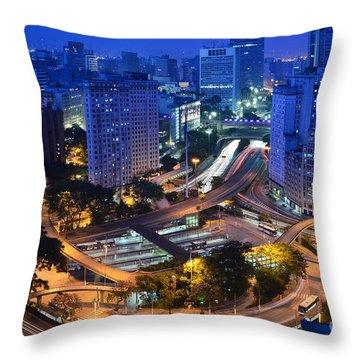 Sao Paulo Skyline - Downtown Throw Pillow