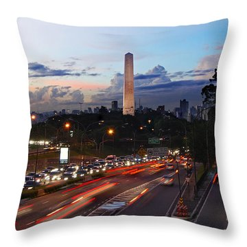 Sao Paulo Skyline - Ibirapuera Throw Pillow