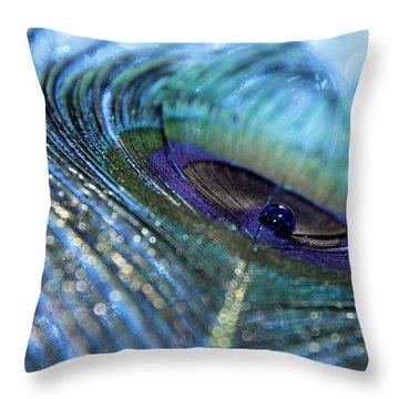 Saphire Blues Throw Pillow
