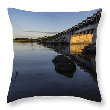 Throw Pillow featuring the photograph Sapowet Salt Marsh by Andrew Pacheco