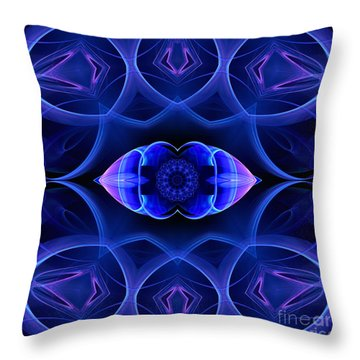 Sapphire Throw Pillow by Hanza Turgul