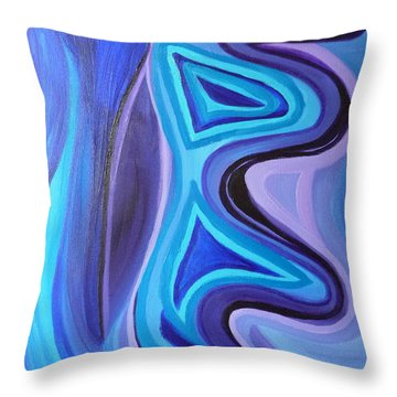 Sapphire Passion - Luminescent Light Throw Pillow by Daina White