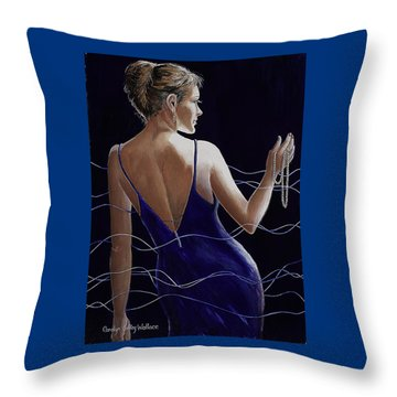 Sapphire Pearls And A Smile Throw Pillow