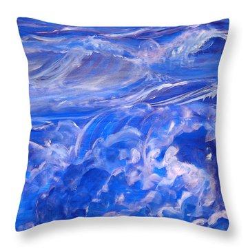 Sapphire Sea Throw Pillow