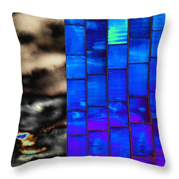Sapphire Sunset Throw Pillow