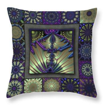 Sapphire Wind Redux  Throw Pillow