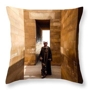 Saqqara Temple Throw Pillow