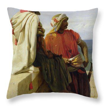 Saracens In Front Of Their Position Throw Pillow