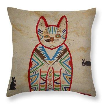 Sarah's Cat Throw Pillow