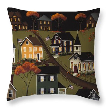 Sarah's Diner Throw Pillow by Catherine Holman