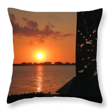 Sarasota Bay Sunset Throw Pillow
