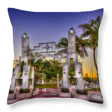 Sarasota Bayfront Throw Pillow