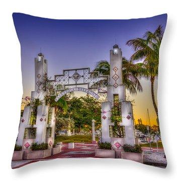 Sarasota Bayfront Throw Pillow by Marvin Spates