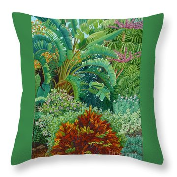 Sarasota Garden Throw Pillow by Beverly Theriault