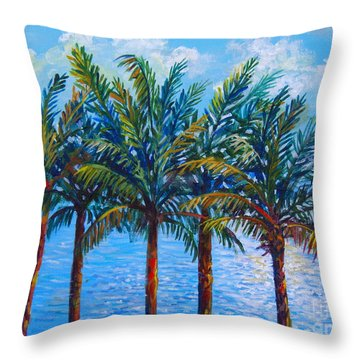 Sarasota Palms Throw Pillow by Lou Ann Bagnall