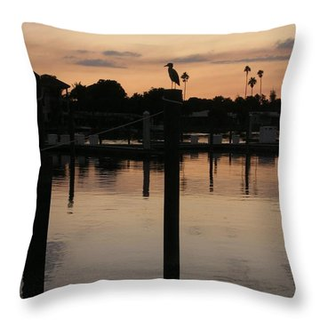 Sarasota Sunset Throw Pillow by Emmy Marie Vickers