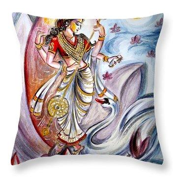Saraswati Throw Pillow