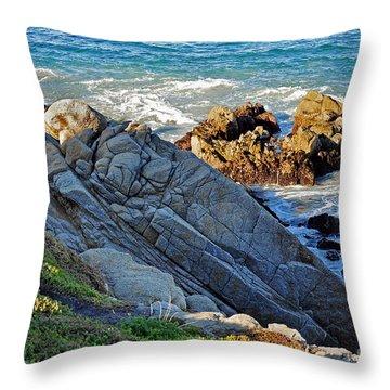 Sarcophagus Formation On Seaside Rocks Throw Pillow