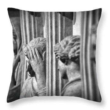 Sarcophagus Of The Crying Women II Throw Pillow by Taylan Apukovska