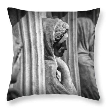 Sarcophagus Of The Crying Women Throw Pillow by Taylan Apukovska