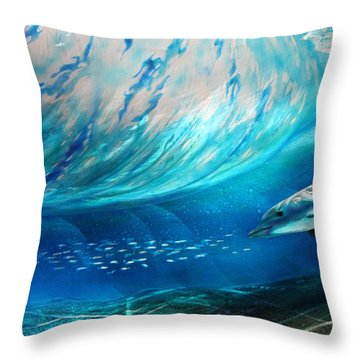 Sardines For Lunch  Throw Pillow by Nick Knezic