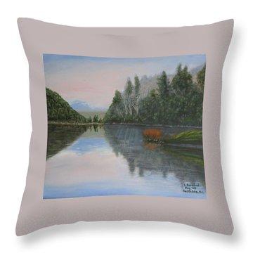 Sarita Lake On Vancouver Island Throw Pillow