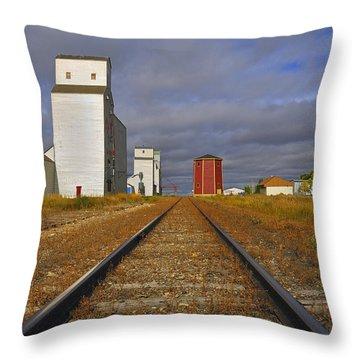 Saskatchewan Prairies Throw Pillow