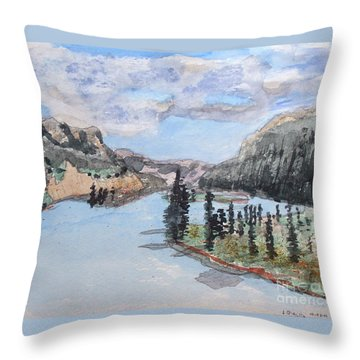 Saskatchewan River Crossing - Icefields Parkway Throw Pillow