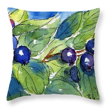 Saskatoon Berries Throw Pillow