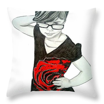 Sassy Izzy Throw Pillow by Justin Moore