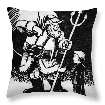 Satan Santa Throw Pillow