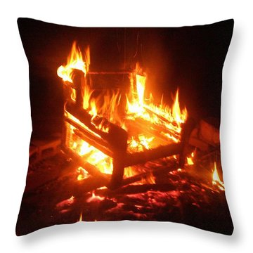 Throw Pillow featuring the photograph Satan's Arm Chair by Shana Rowe Jackson